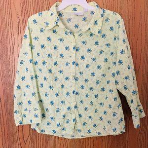 Sonoma floral blouse XL